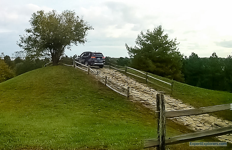 BMW X5 Parked on a Hill in the off-road course