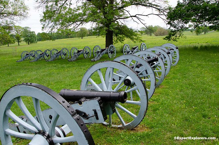 Cannons at the Artillery Park in Valley Forge National Park, Pennsylvania