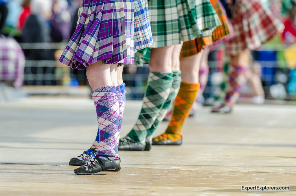 Socks of Scottish highland dancers