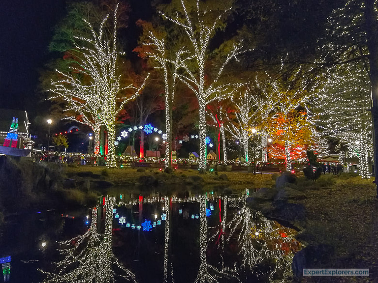 Lights decorate Christmas Crossroads at WinterFest