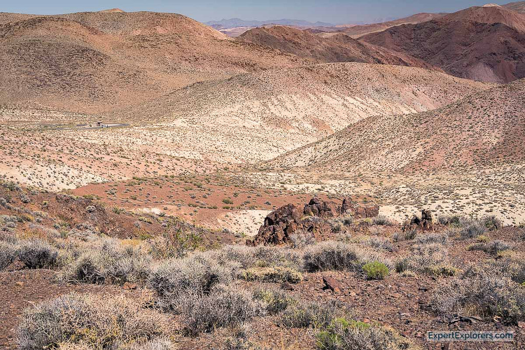 Colorful Rolling Hills, Death Valley National Park