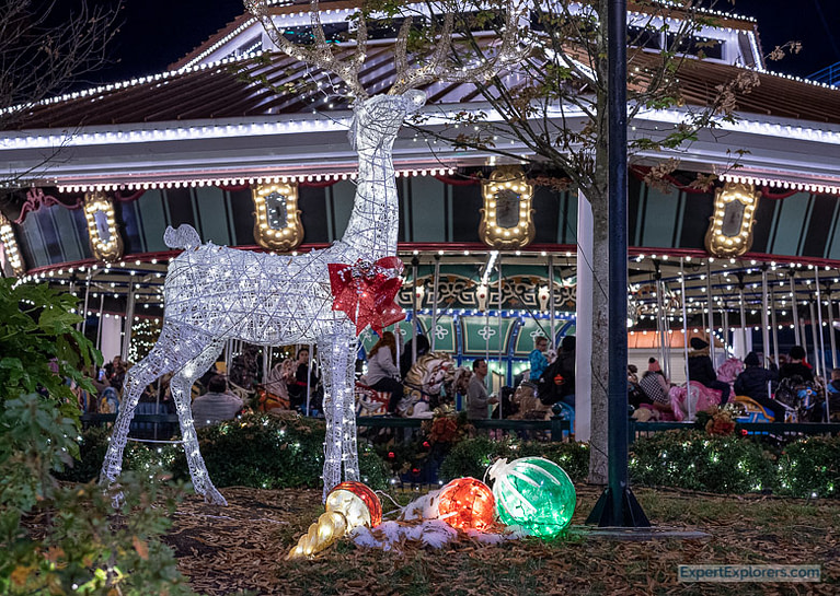 Grand Carousel in Christmas Park