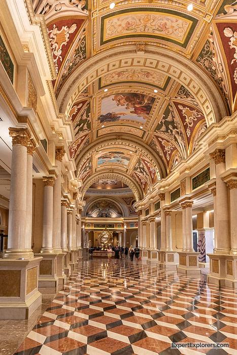 Ornate Hallway in The Venetian Hotel, Las Vegas