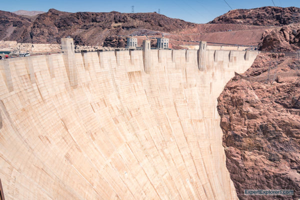Wall of the Hoover Dam, Nevada