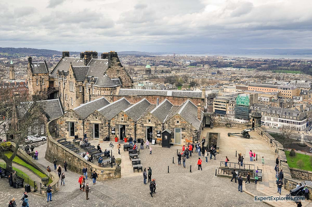 View over the city at Edinburgh Castle Scotland