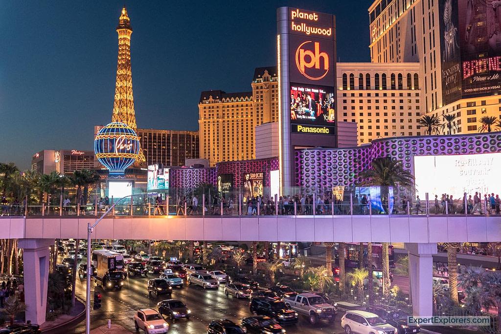 The Strip at night, Las Vegas