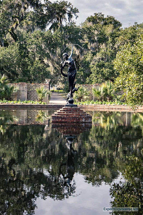 """""""Diana of the Chase"""" statue by Anna Huntington at Brookgreen Gardens in Murrells Inlet"""