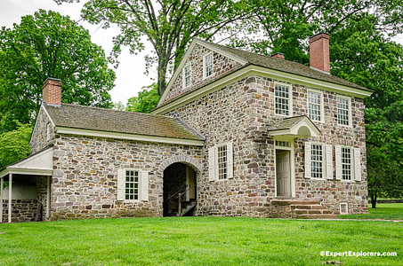 Stone building of Washington's Headquarters at Valley Forge National Park, Pennsylvania